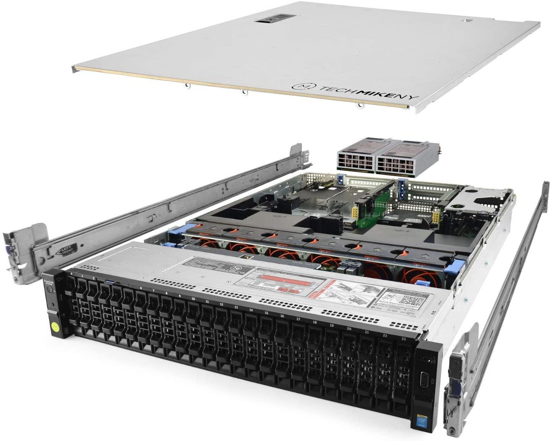TechMikeNY Server E5-2670v3 2.30Ghz 24-Core 128GB H730P Rails PowerEdge R730xd (Renewed)
