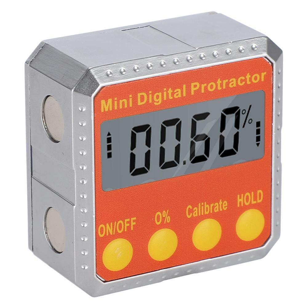 Digital Inclinometer Magnetic Protractor Electronic Level Box 360 Degree Angle Finder for Easy Horizontal and Vertical Measurement.