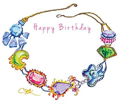 Gem Birthday Card 4 pack