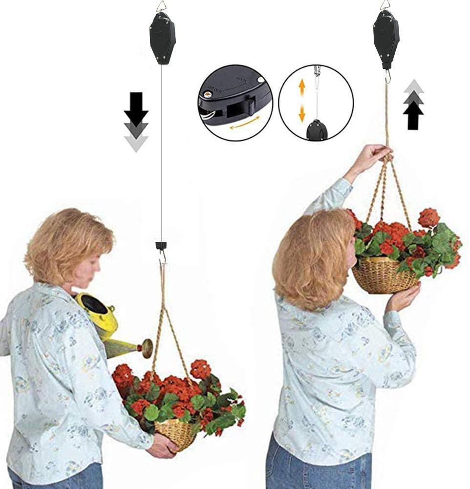 ZABB Adjustable Plant Hanger Hook, Hanging Plant Hook, with Locking Mechanism for Hanging Plants, Garden Flower Baskets, Pots and Bird Feeders