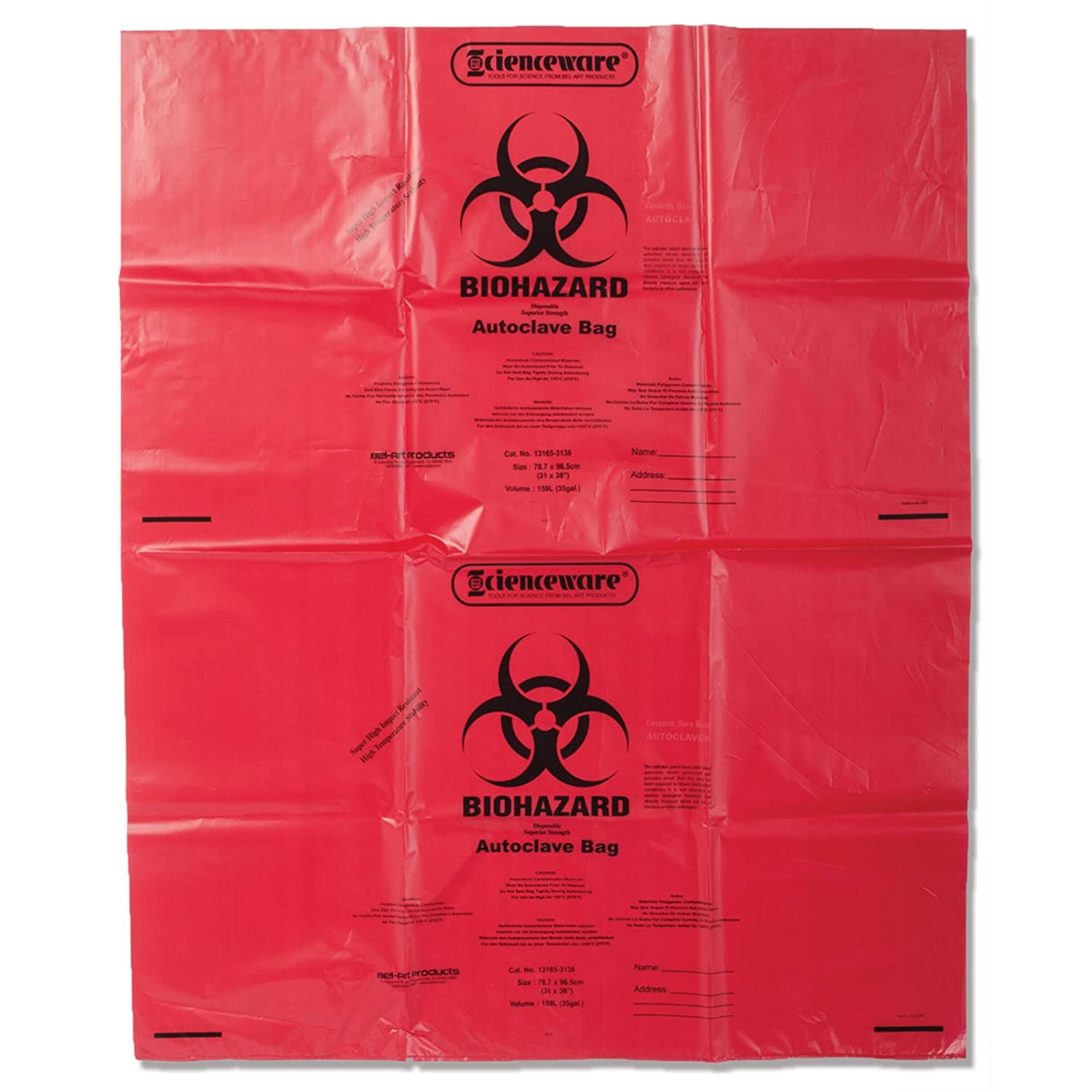 Super Strong Biohazard Infectious Waste Disposal Bags 2mil Thick 37