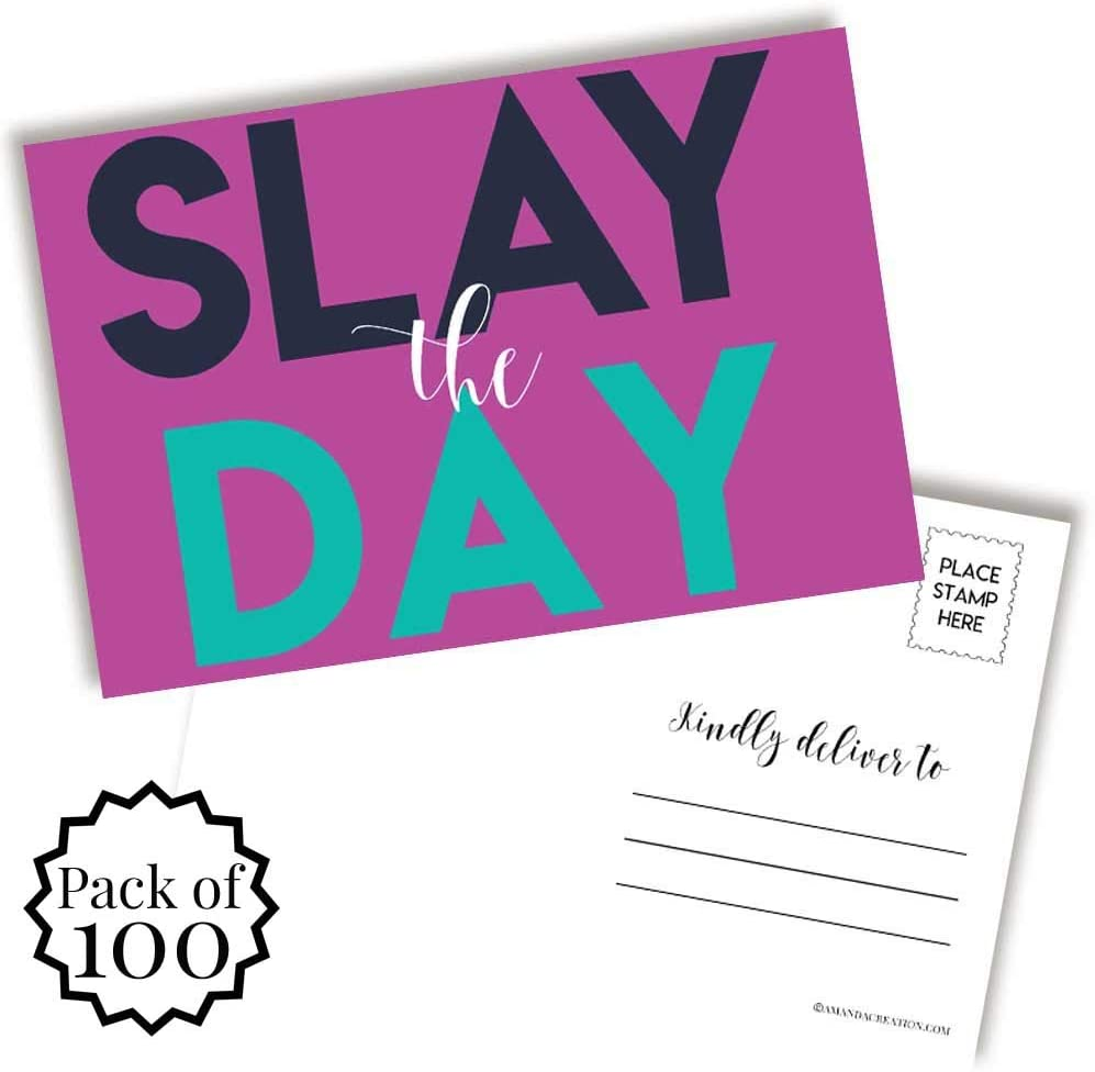 Slay The Day Female Entrepreneur Blank Postcards To Send To Friends & Family, 4