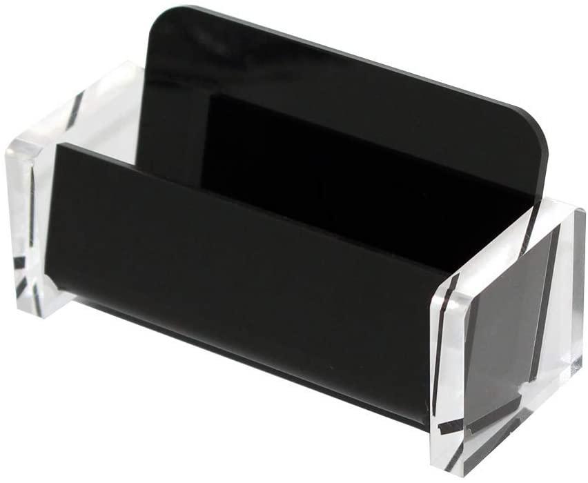 Desk Business Card Holder, Acrylic Business Card Holder Display, Business Card Holder Display - Desktop Business Card Holder Display Stand for Table Desktop Office Desk
