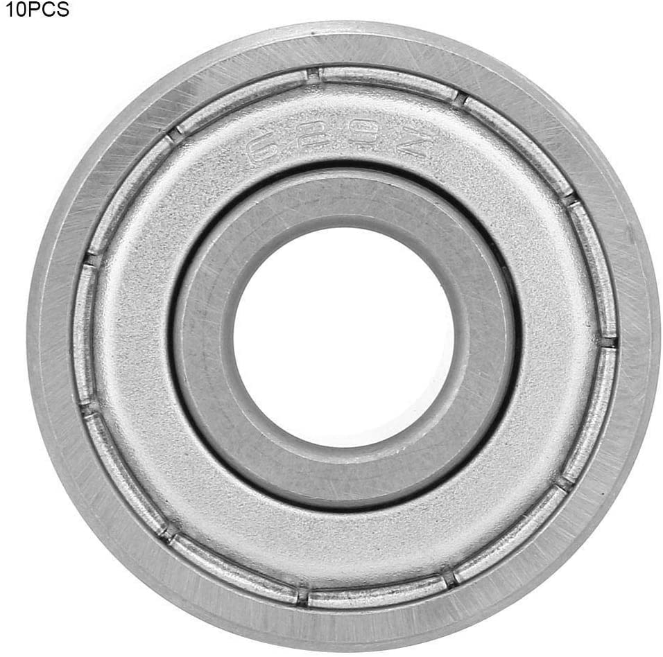 Beennex 10pcs Steel Single Row Groove Roller Ball Bearing?Guide High Speed (629-ZZ)