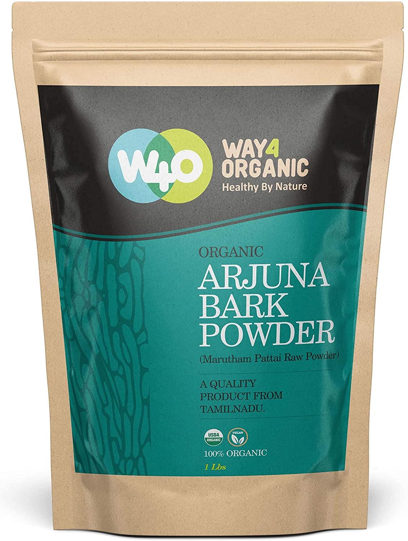 Organic Arjuna Bark Powder, 16 Ounces(1 Pound) - Way4Organic