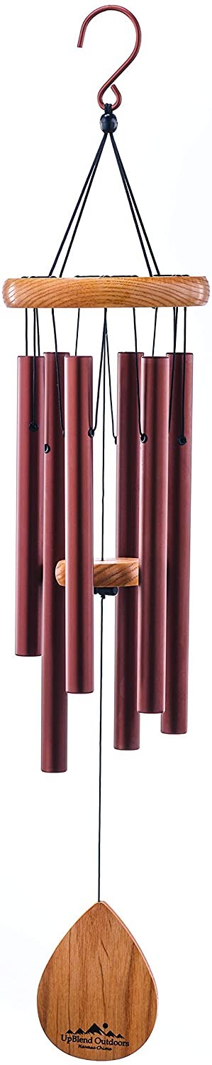 """UpBlend Outdoors Wind Chime - The Classic Brown Havasu is 28"""" Total Length - Hand-Tuned and Beautiful as a Gift or for Your Patio, Garden, and Outdoor Home décor"""