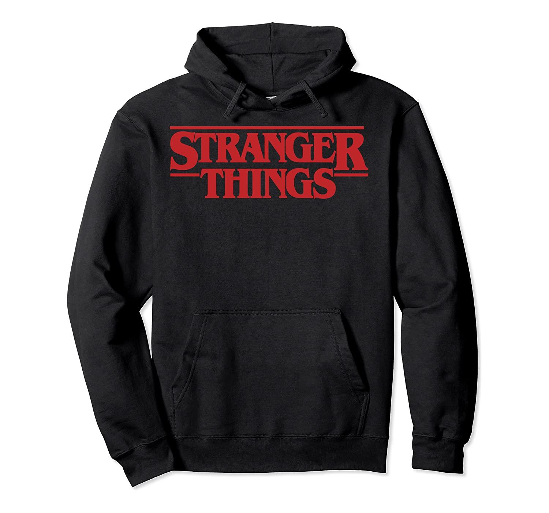 Netflix Stranger Things Simple Red Logo Pullover Hoodie