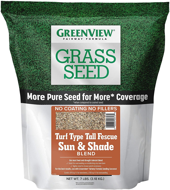 GreenView 2829347 Fairway Formula Grass Seed Turf Type Tall Fescue Sun & Shade Blend, 7 lb