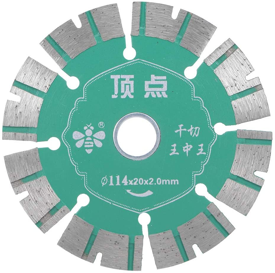 uxcell 4-1/2 Inch Diamond Saw Blades Segmented Rim Cutting General Purpose for Granite and Marble Green