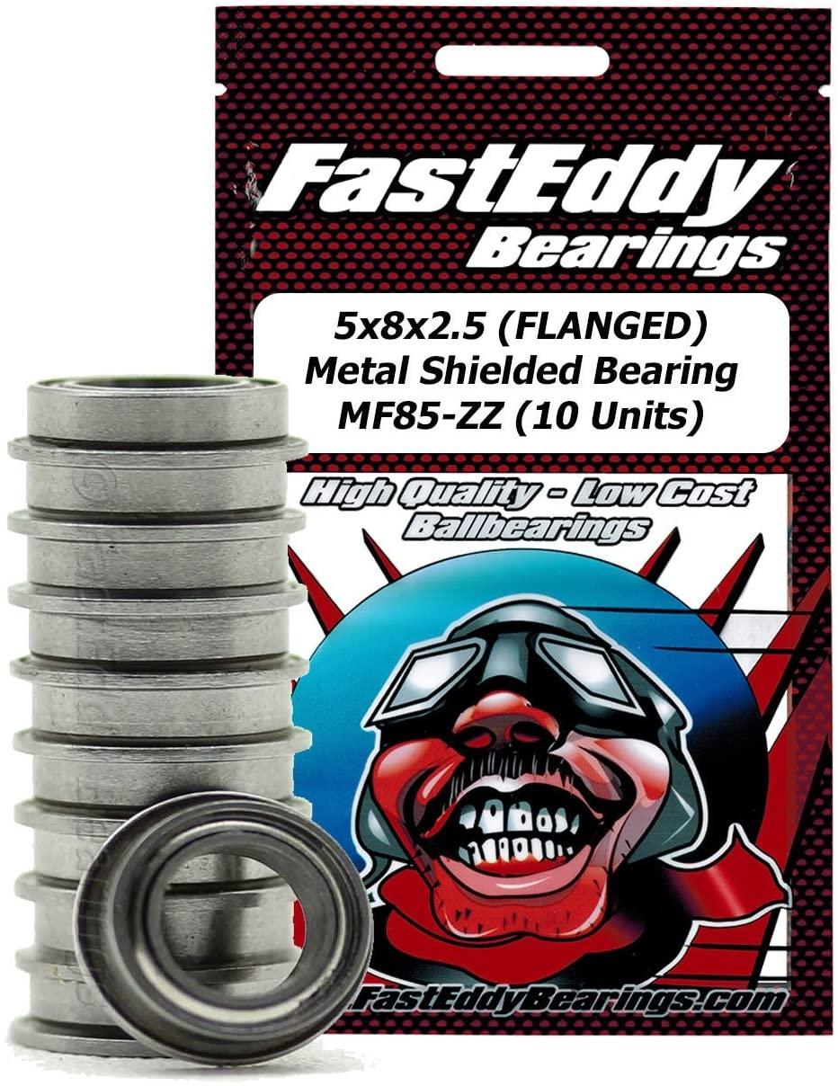 5x8x2.5 (FLANGED) Metal Shielded Bearing MF85-ZZ (10 Units)