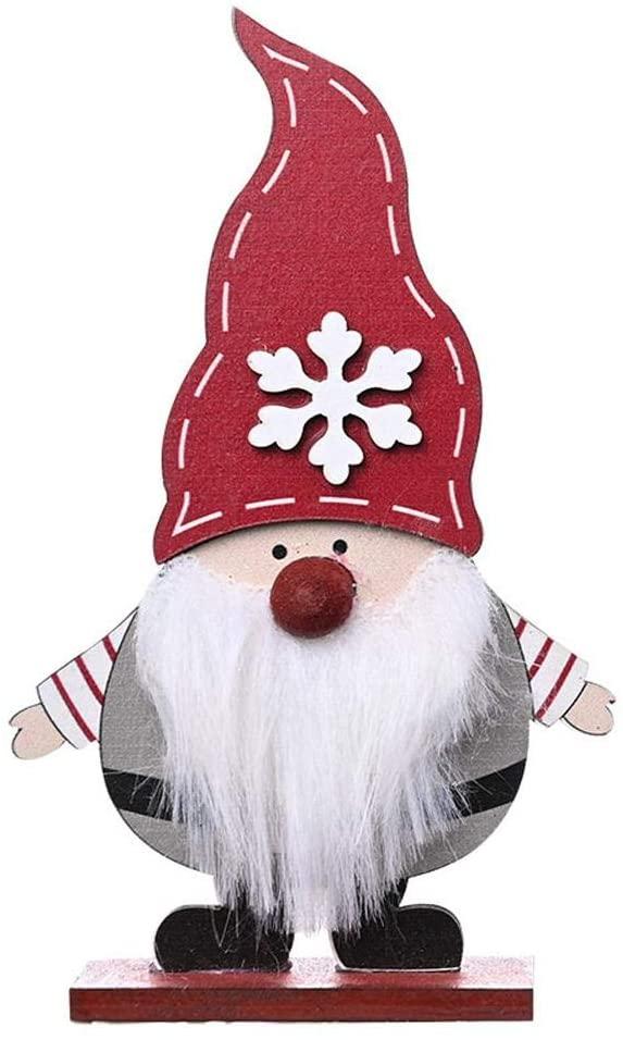 Xianggu Swedish Santa Gnome Plush, 5.713.54in Wooden Elf Dwarf, Exqusite Christmas Santa Home Decoration, Cozy Style, for Christmas Tree Santa Door Decoration