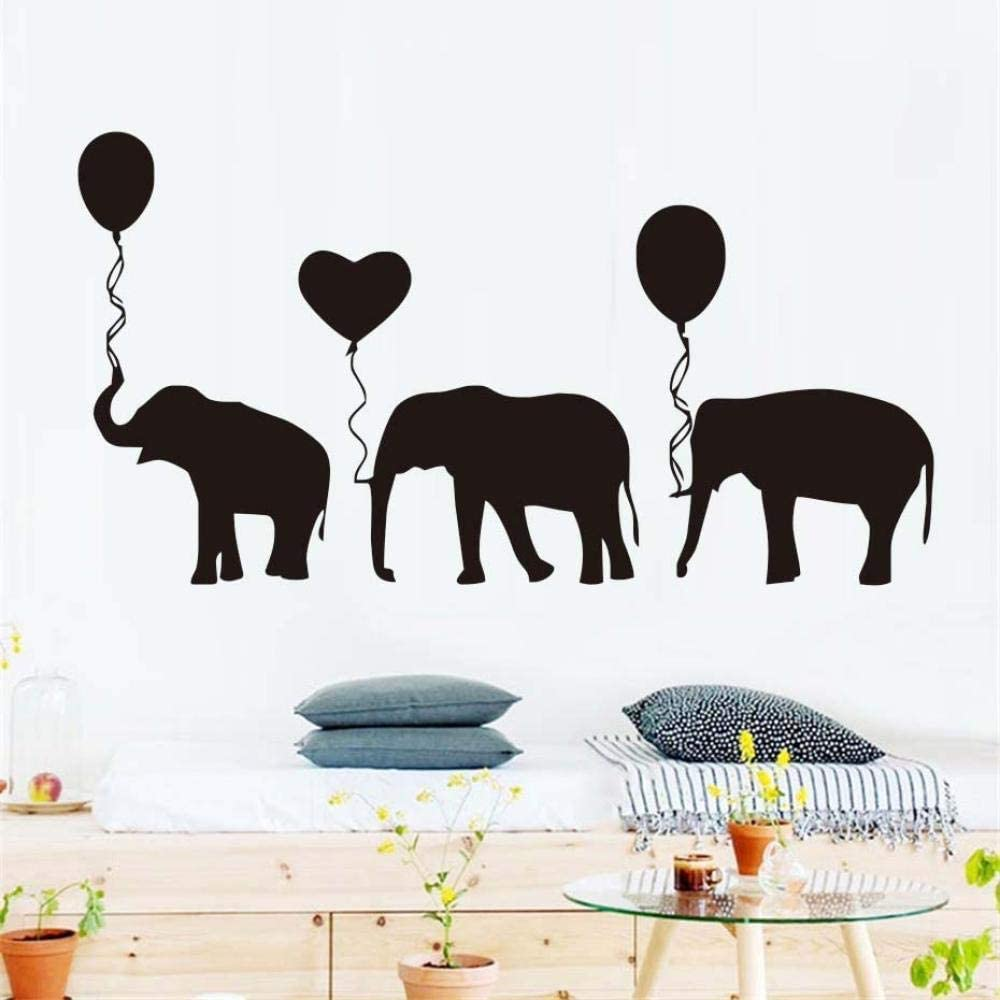 Wall Stickers for Bedroom Elephants in Queue with Balloon Wall Sticker Wallpaper Home Decor Decal Living Room Kids Bedroom Mural 43 81Cm