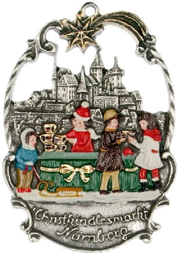 Pinnacle Peak Trading Company Christmas Market in Nuremberg German Pewter Ornament Nurnberg Decoration
