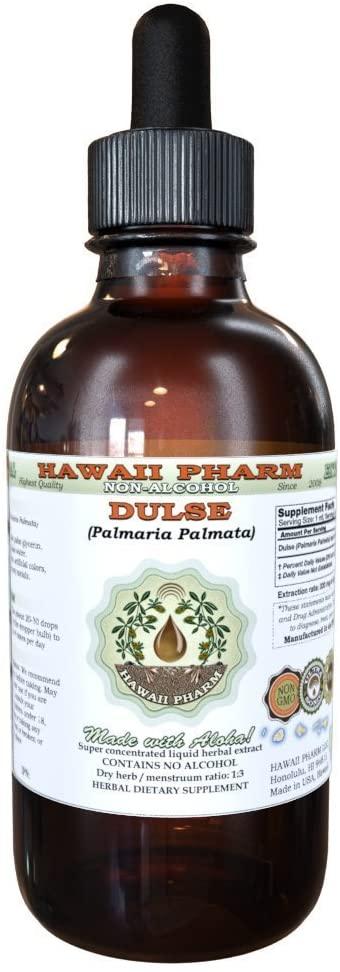 Dulse Alcohol-FREE Liquid Extract, Dulse (Palmaria Palmata) Dried Leaf Glycerite Herbal Supplement 2 oz