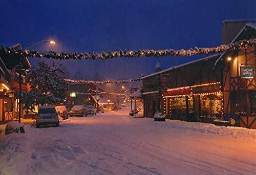Poulsbo, Washington in the snow #769-Goodall Christmas Cards