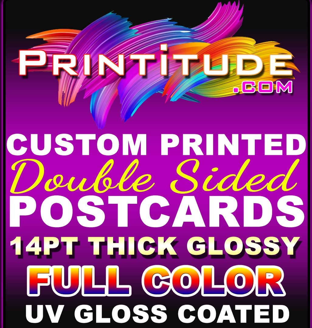5000 Personalized Full Color 4.5X11 Postcards Glossy UV 2 Sided 4.5