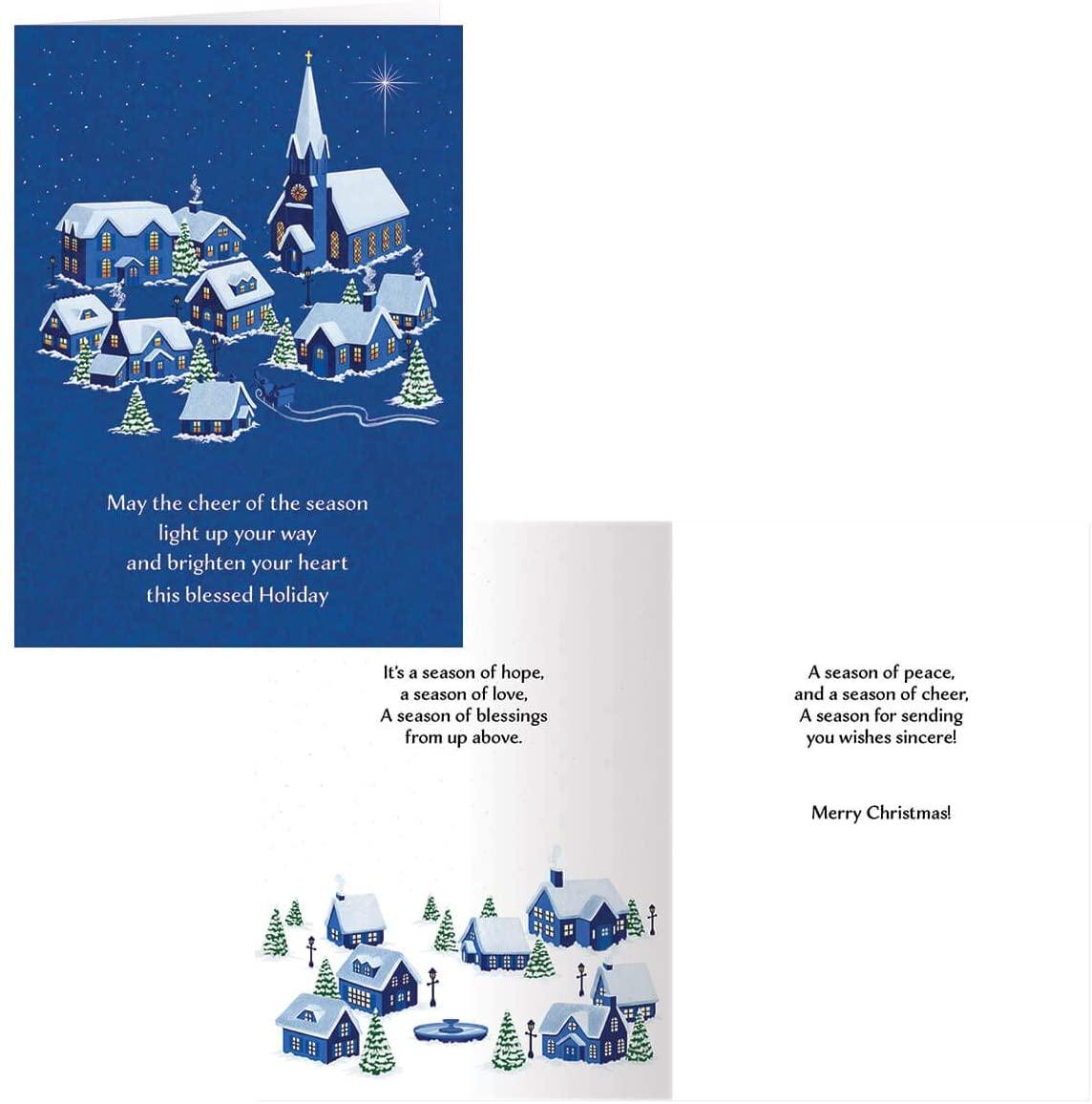 Peaceful Village Christmas Card Set of 20