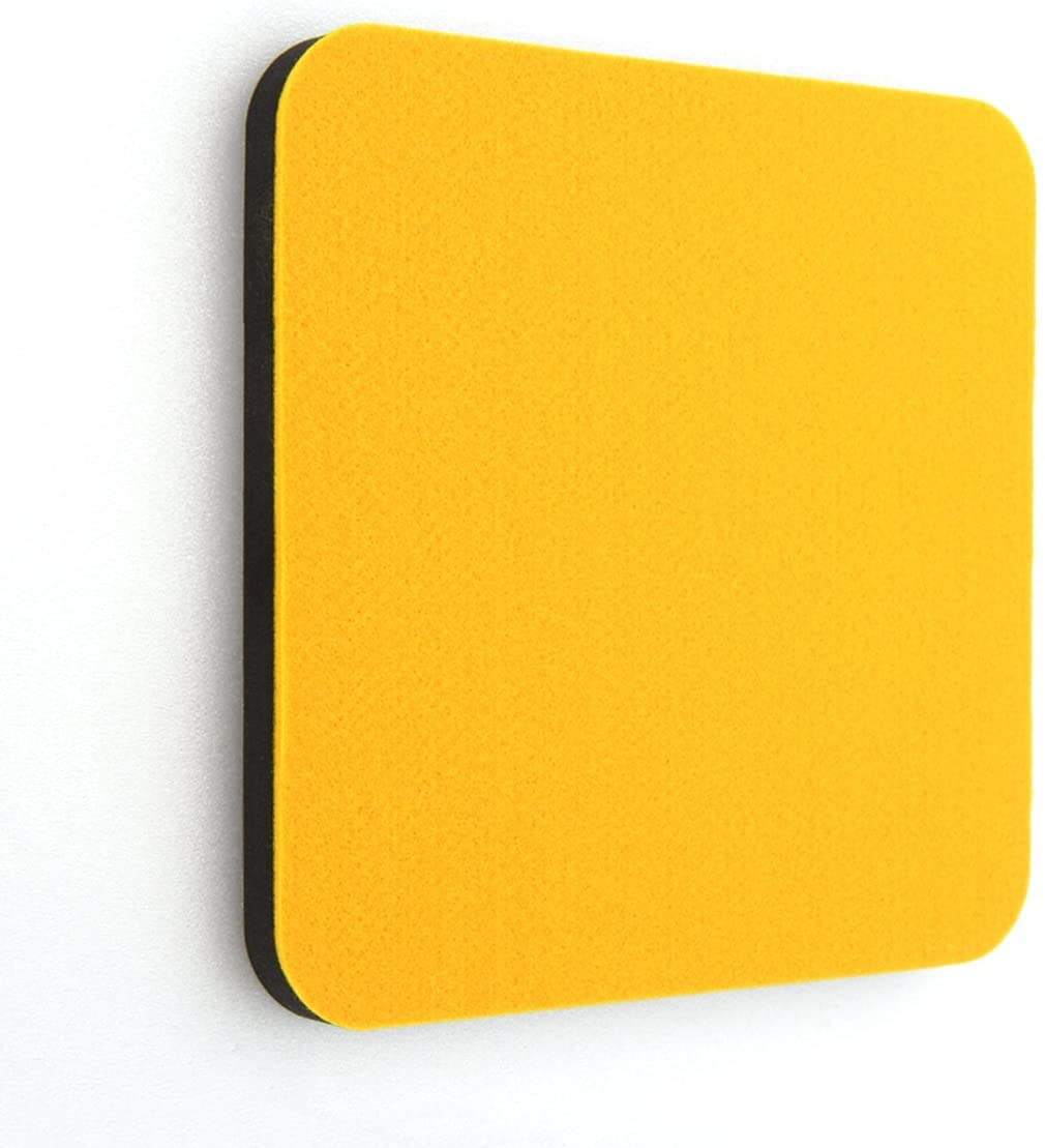 thehaki (Pack of 2, Yellow) Sandwich Decorative Wall Sign Board with Sticky Back, Square Type, Pin Board-Decoration for Pictures, Notes, Etc.