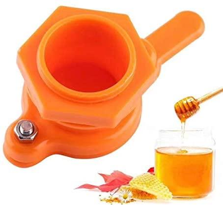 Honey Tap Gate Valve Beekeeping Extractor Bottling Tool Beekeeper Equipment (Orange)