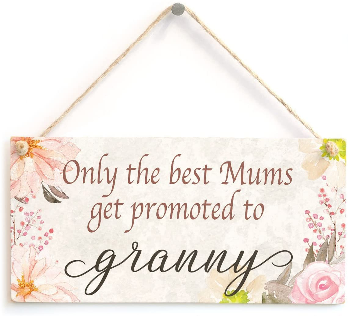 Meijiafei Only The Best Mums get Promoted to Granny - Meaningful Gift Sign Baby Announcement Gift for Gran to Be 10