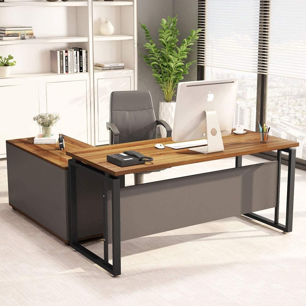 LITTLE TREE L-Shaped Computer Desk, 55