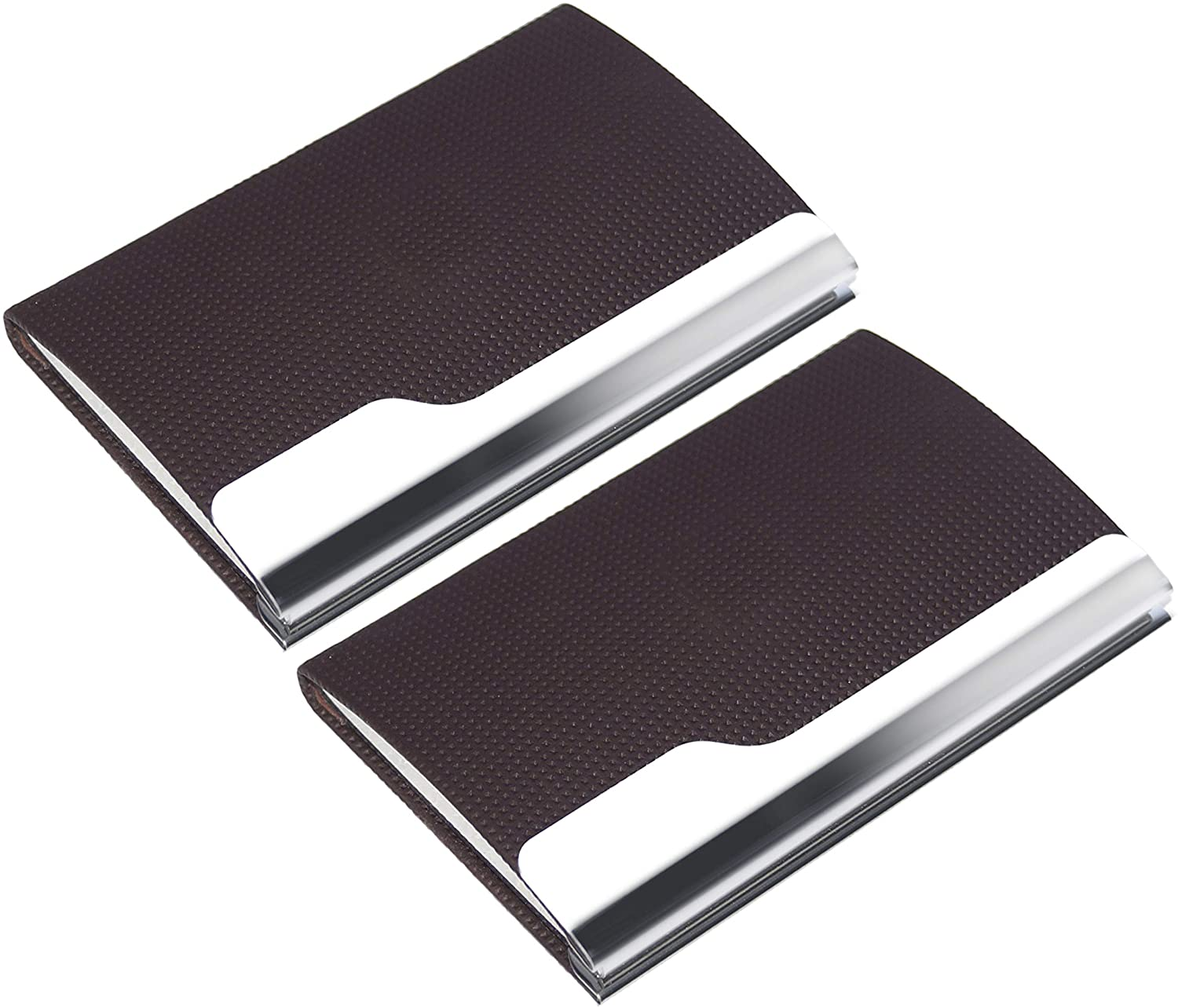 SAITECH IT 2Pack Professional Business Card/Visiting Card/Credit Card Holder Wallet with Magnetic Closure for Men and Women