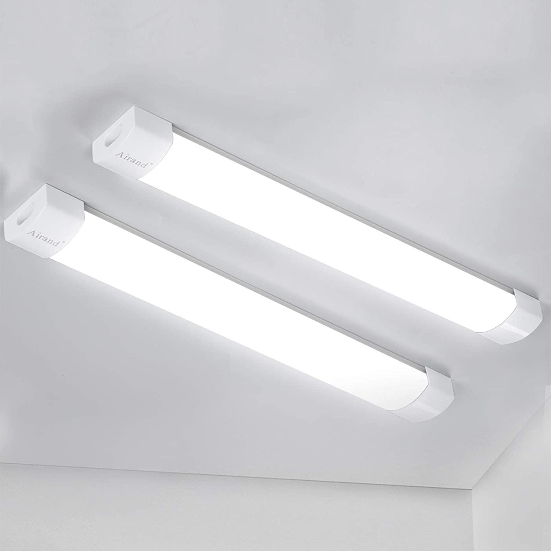 Led Shop Lights for Garage 4 Foot with Plug Led Ceiling Light 36W 4Ft 2 Pack 5000K Super Bright Wall Lights IP66 Waterproof Led Light for Garage, Workbench, Hallway, Closet