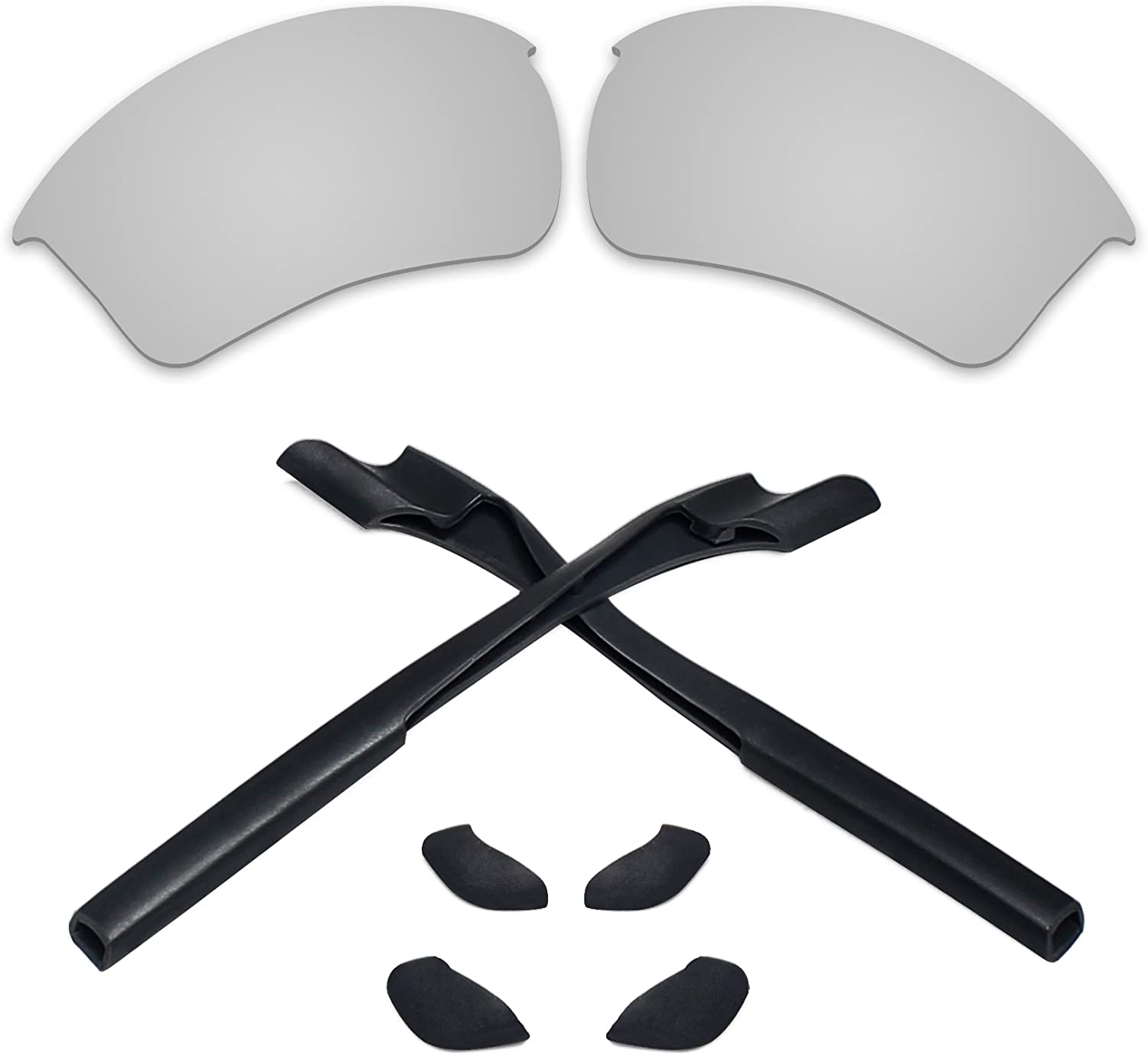 Replacement Lenses & Earsocks Rubber Kits for Oakley Half Jacket 2.0 XL Sunglass