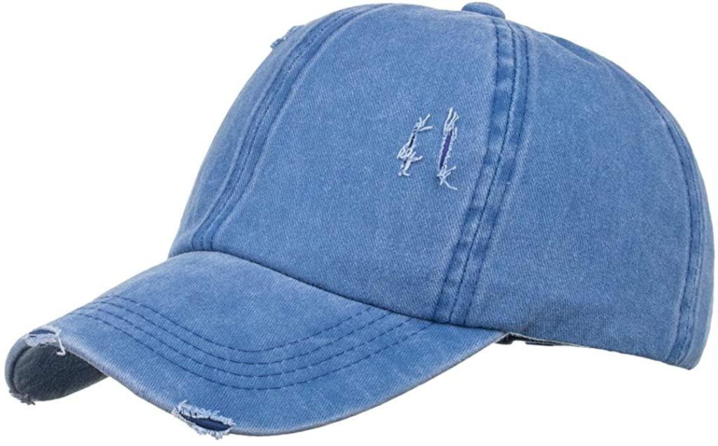Adorable Hat Ponytail Hole Mesh,Men Tie-Dye Sun Hat Cowboy Cap Trucker Visor Cap