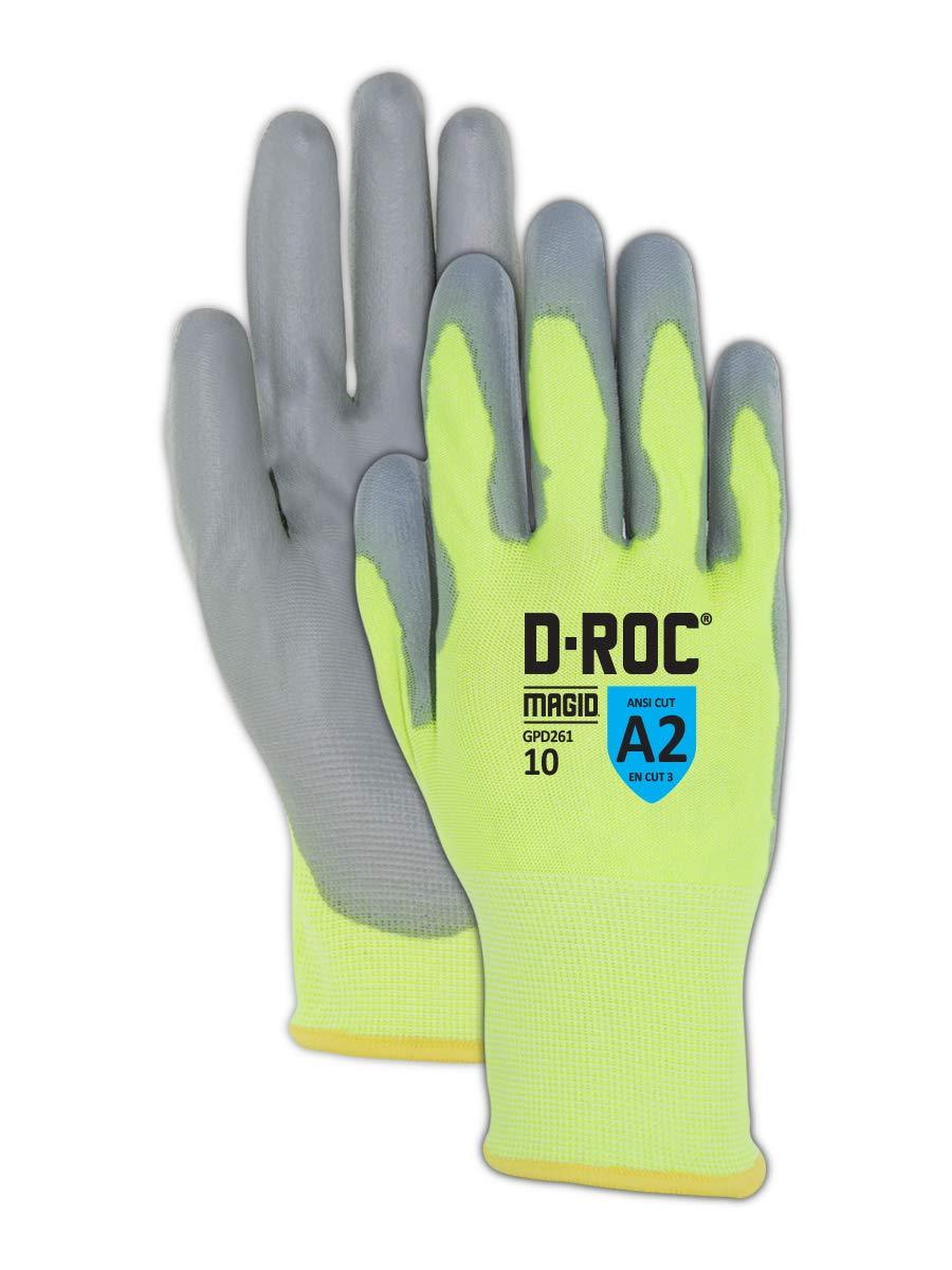 Magid Glove & Safety GPD261 Cut Resistant Glove, Size 9/L, 24 Pair