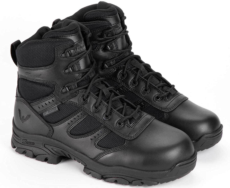 Thorogood Men's Deuce Series 6'' Waterproof Tactical Side-Zip Composite Safety Toe Shoe