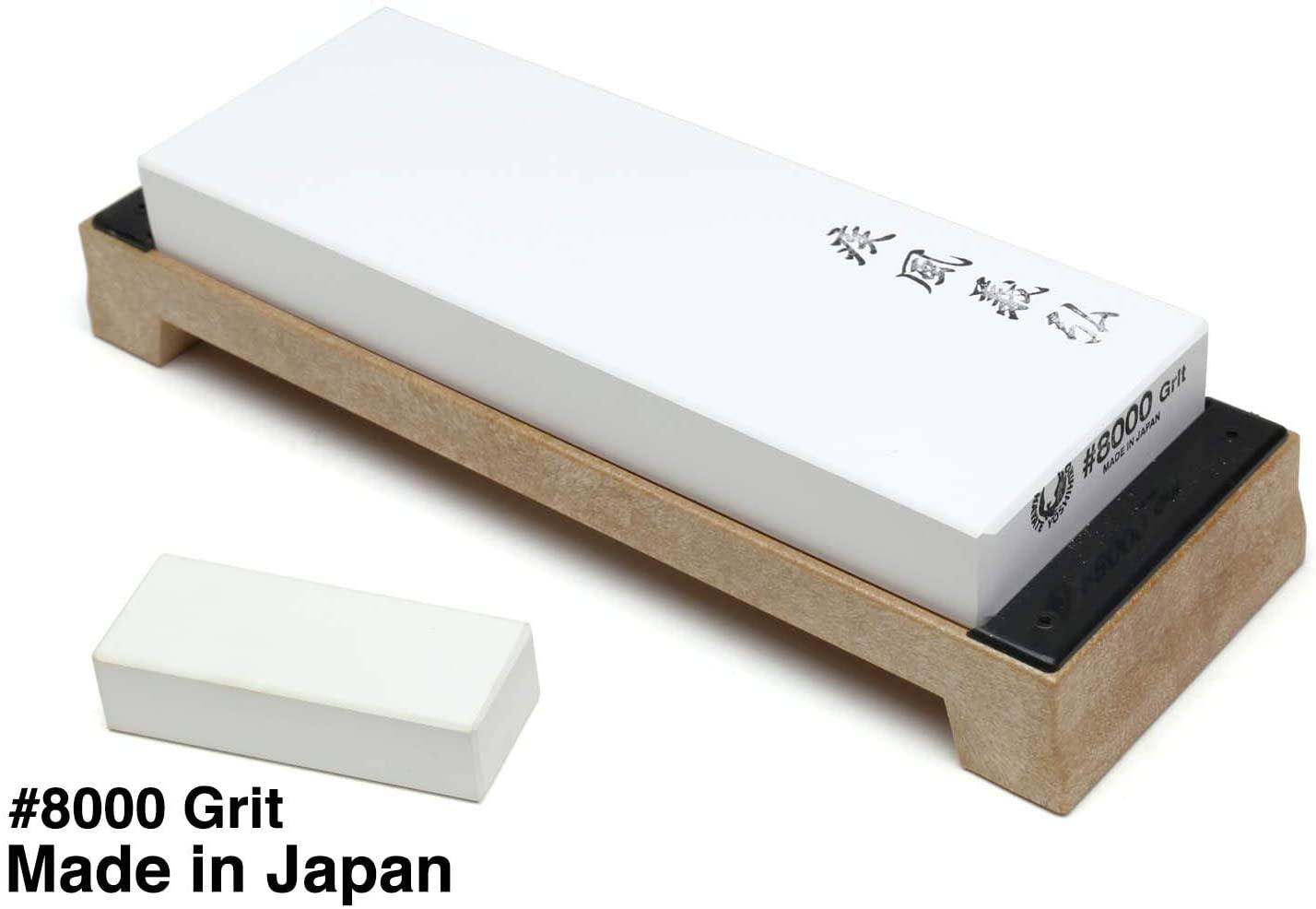Yoshihiro Professional Grade Toishi Japanese Whetstone Knife Sharpener Water Stones (#8000 grit)