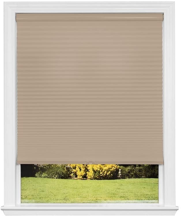 Redi Shade Artisan Select No Tools Custom Cordless Cellular Light Filtering Shades, Khaki, 20 3/8 in x 72 in