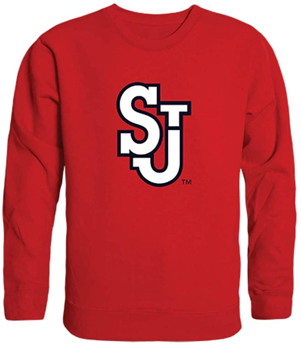 St. John's University Red Storm Crewneck Pullover Sweatshirt Sweater Red