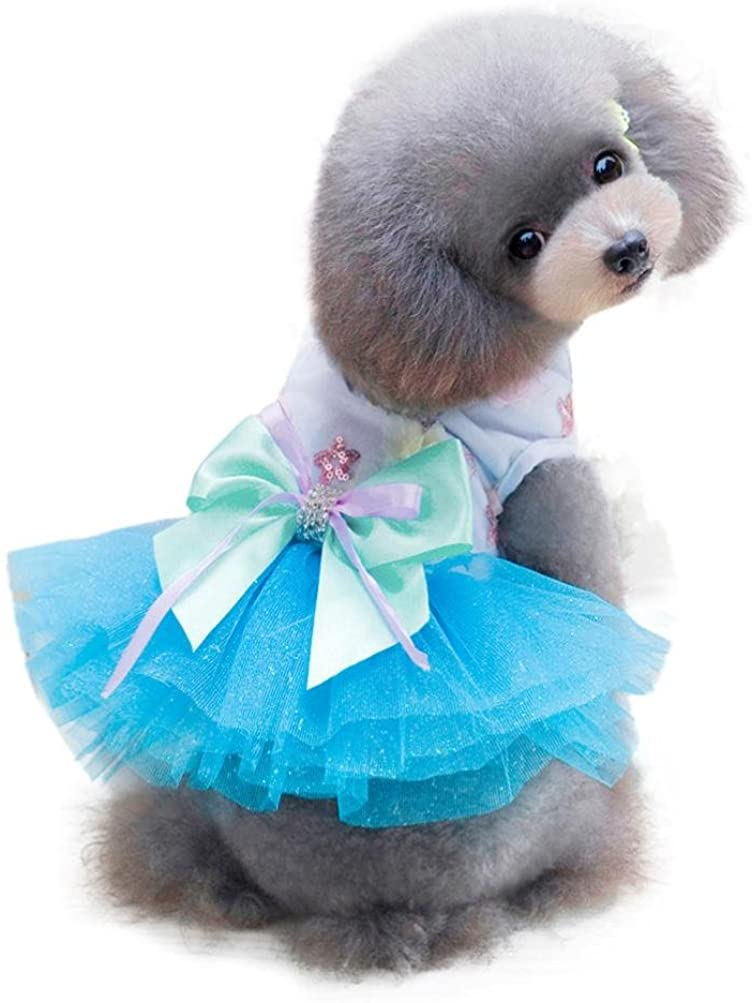 Howstar Pet Dress, Cute Dog Clothes Puppy Skirt Soft Doggy Costume Tutu Apparel Princess Dress