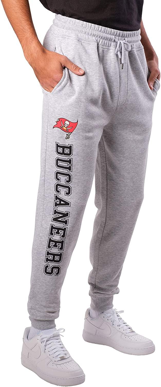 NFL Ultra Game Tampa Bay Buccaneers Active Basic Jogger Fleece Pants, XX-Large, Heather Grey