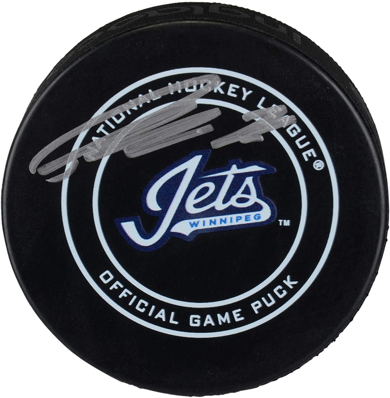 Patrik Laine Winnipeg Jets Autographed Alternate Wordmark Official Game Puck - Autographed NHL Pucks