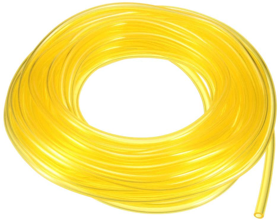 uxcell 25Ft Petrol Fuel Line Hose I.D 1/8 X O.D 3/16 PVC Soft Pipeline for Common 2 Cycle Small Engine Weedeater Chainsaw