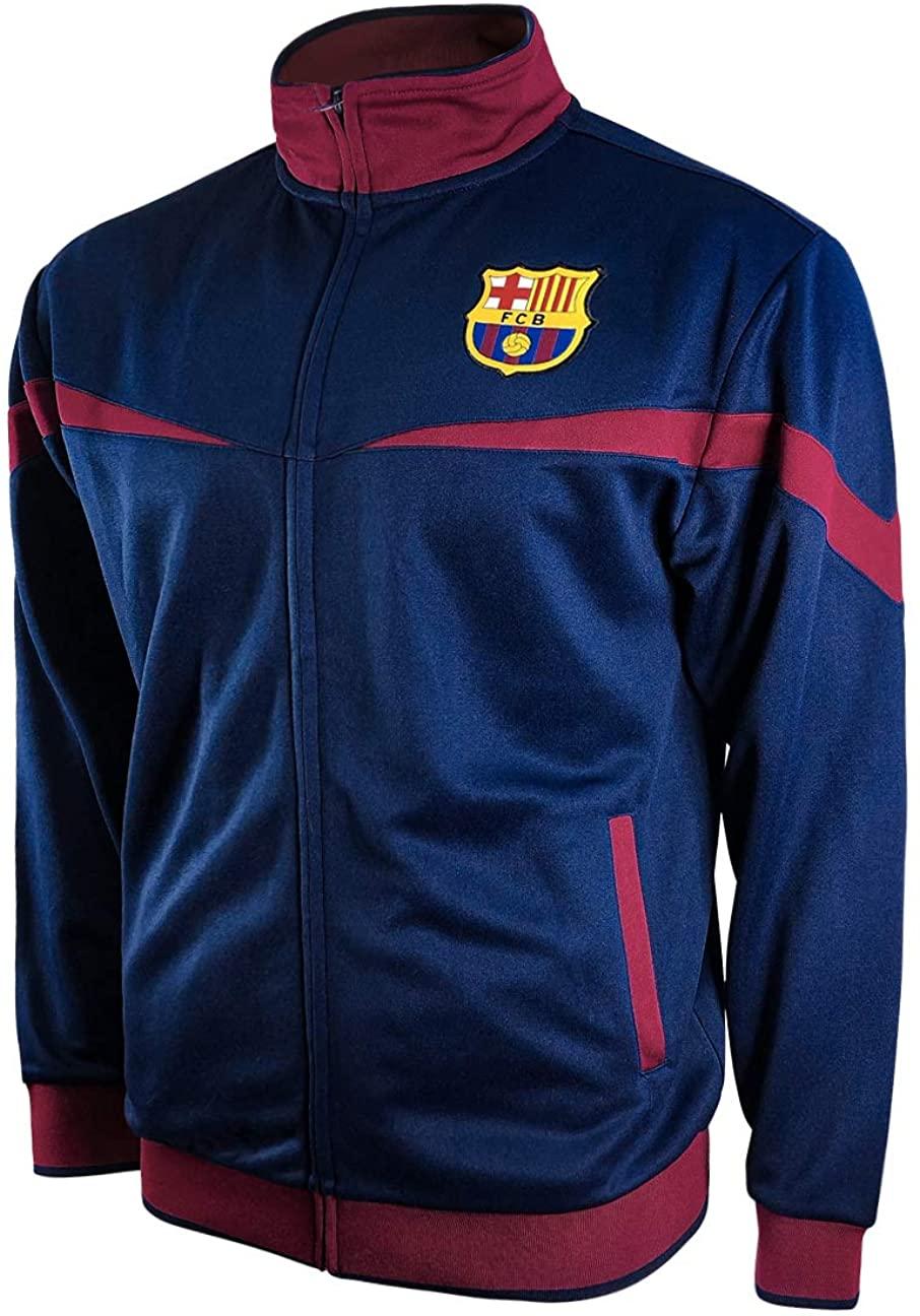 Icon Sports FC Barcelona Full-Zip Barça Track Jacket (Youth Medium, Blue)