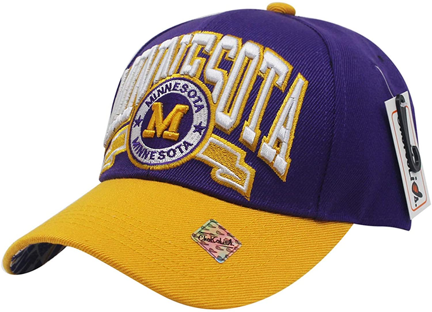 Team Color City Name Embroidered Baseball Cap Hat Unisex Football Basketball TBC001
