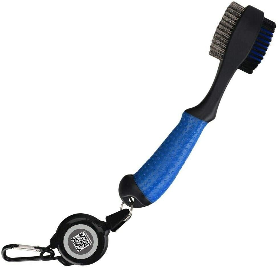 LangTianGuoJi Golf Club Cleaner, Blue Lightweight Golf Brush and Club Groove Cleaner with Retractable Carabiner