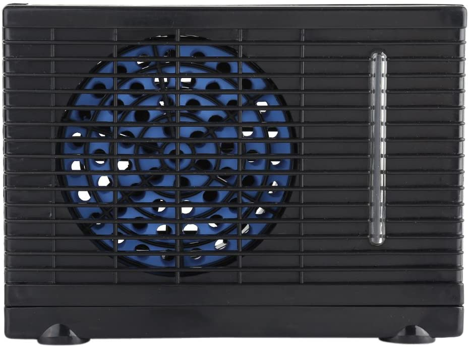 Mini Car Conditioner Fan,Portable 12V Car Truck Home Air Conditioner Evaporative Water Cooler,Adjustable 2 Speeds Switch Cooling Fan for Car Home Office Camping(Black)