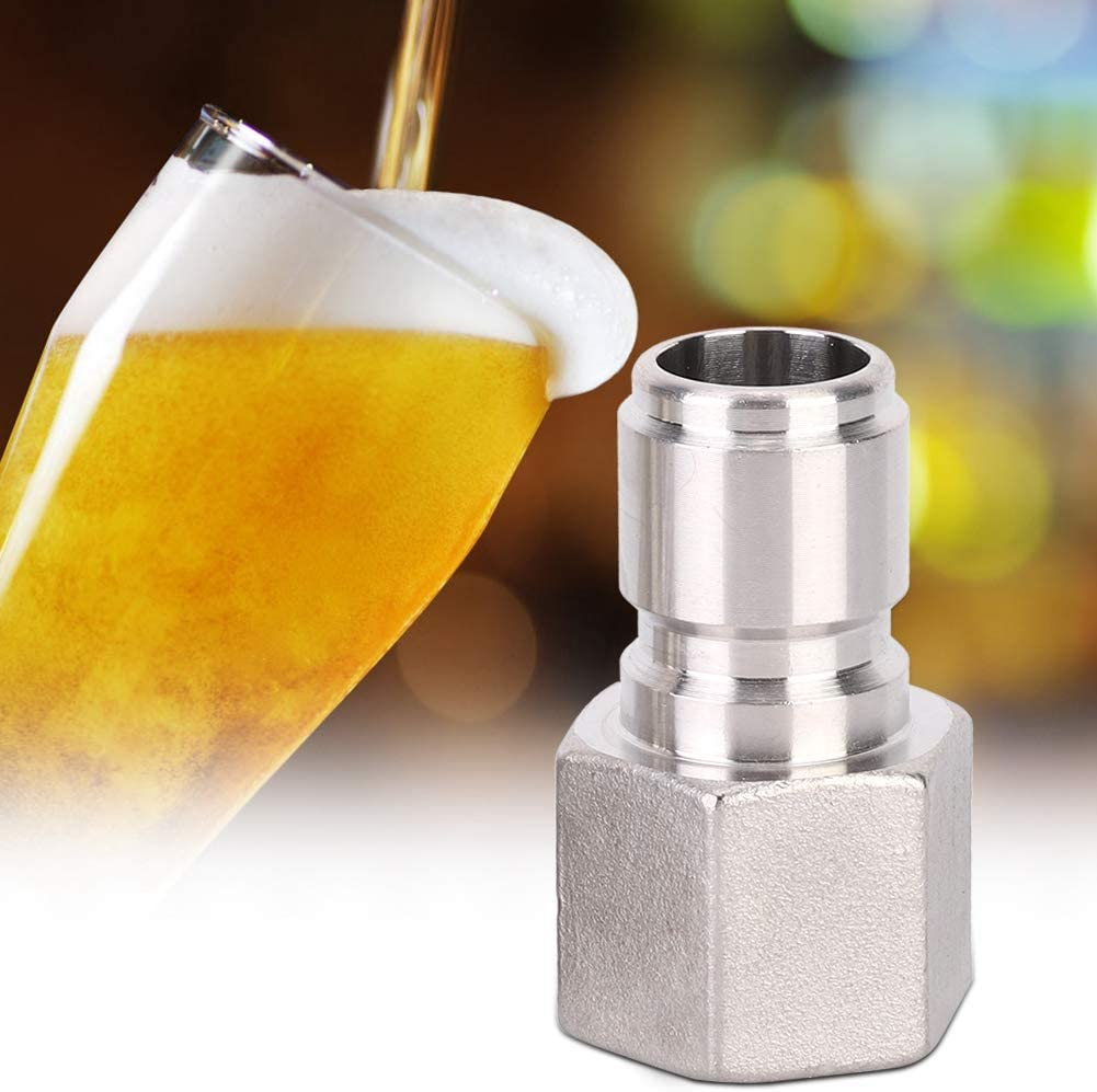 Stainless Steel Quick Disconnect,2Pcs 1/2in Beer Quick Male Connector Beer Brewing Connector Kit