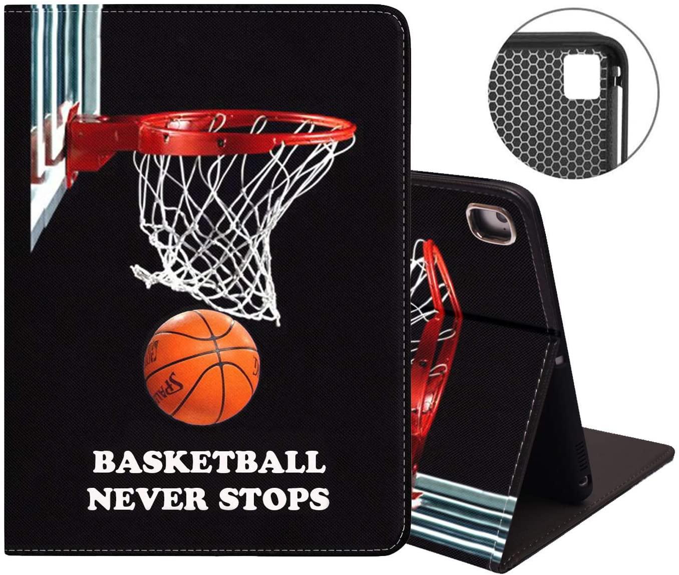 iPad Mini 5/Mini 4 Case, iPad Mini 1/2/3 Case, Protective Leather Case, Adjustable Stand Auto Wake&Sleep Smart Case for iPad Mini 5th/4th Gen 7.9 inch - Basketball Never Stops