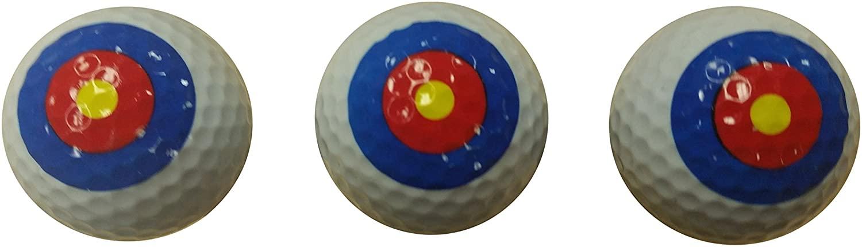 Bullseye Golf Balls (3 Pack)