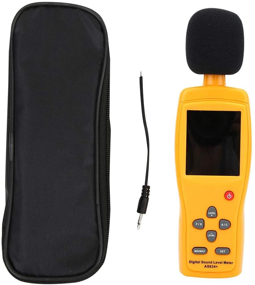 Noise Meter AS834+ High Precision Industrial Digital Sound Level Meter Decibel Detector