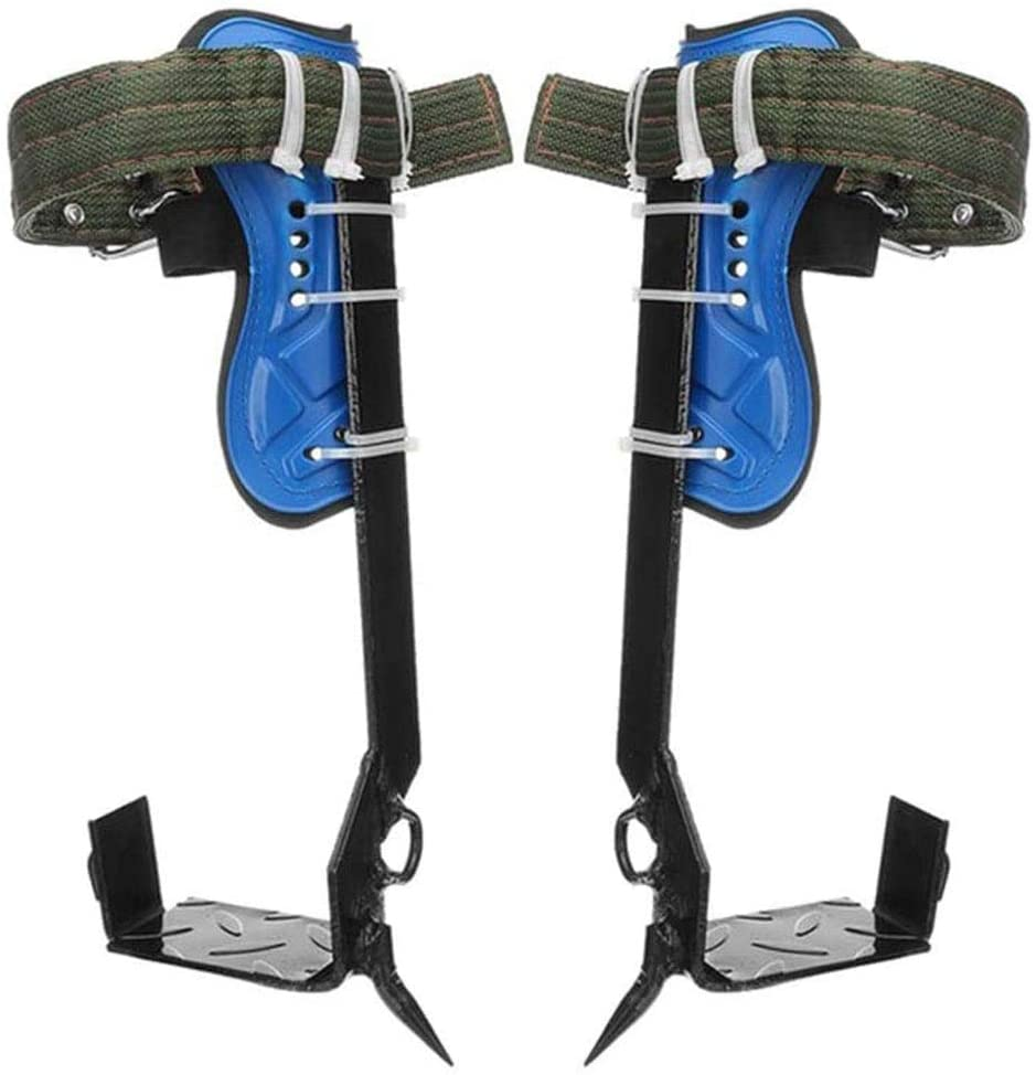sportuli Tree Pole Climbing Spike Set,2 Gears 304 Stainless Steel Claw Climbing Tree Spikes with Adjustable Safety Belt Straps