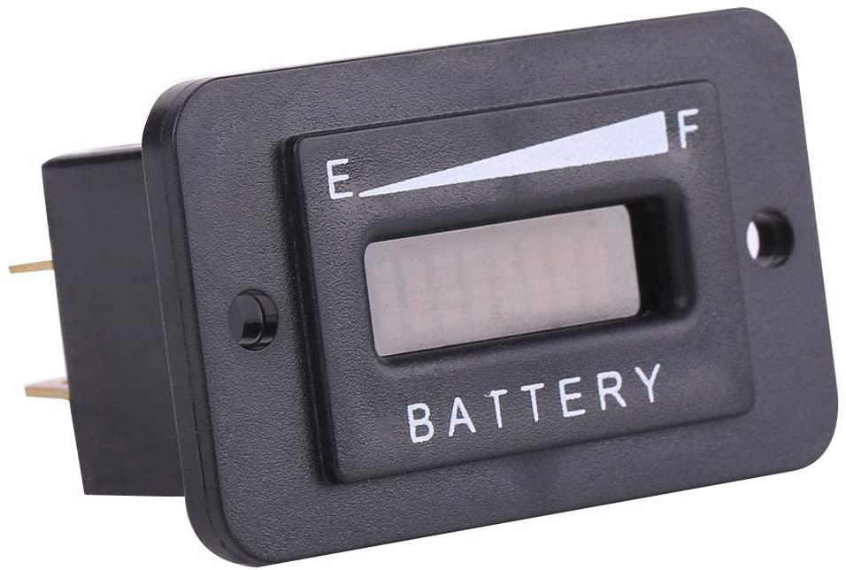 Suuonee Battery Tester, 12V/24V/36V/48V LED Digital Battery Indicator Battery Meter Gauge for Cart(36V)