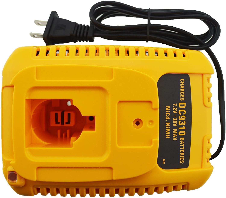 JANRI Replacement Power Battery Charger DC9310 Compatible for 7.2V-18V DEWALT NiCad & NiMh Battery DW9057 DC9071 DC9091 DC9096 DW9072 DW9091 DW9099
