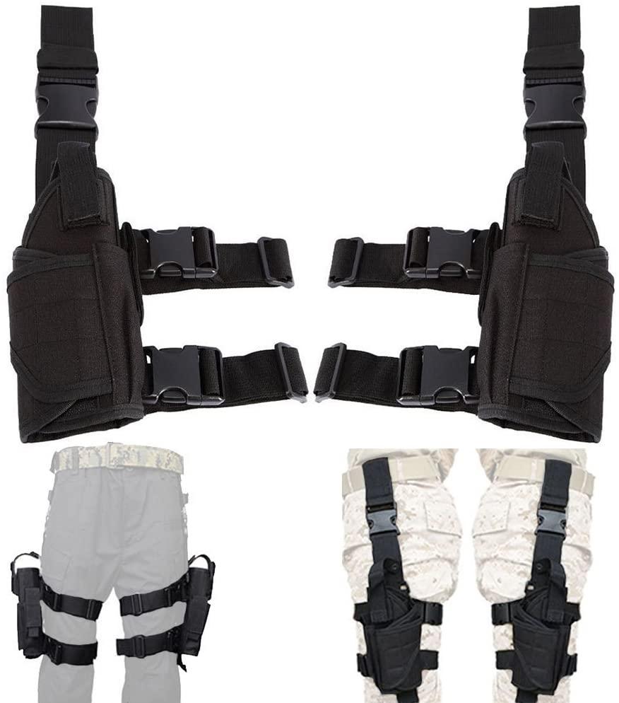 UniqueFire Left Hand & Right Hand Adjustable Universal Waterproof Pistol/Gun Drop Puttee Leg Thigh Holster Pouch Holder